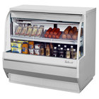 Turbo Air TCDD-48L-W-N 48 inch White Low Profile Curved Glass Refrigerated Deli Case