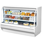Turbo Air TCDD-72H-W-N 72 inch White Curved Glass Refrigerated Deli Case