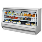 Turbo Air TCDD-96H-W-N 96 inch White Curved Glass Refrigerated Deli Case