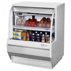 Turbo Air TCDD-36L-W-N 36 inch White Low Profile Curved Glass Refrigerated Deli Case