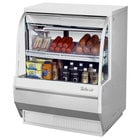 "Turbo Air TCDD-36L-W-N 36"" White Low Profile Curved Glass Refrigerated Deli Case"