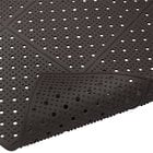 Cactus Mat 1640R-C364 REVERS-a-MAT 3' Wide Black Reversible Rubber Anti-Fatigue Safety Runner Mat - 3/8 inch Thick