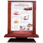 Menu Solutions WTS-4S7-MAH 5 inch x 7 inch Mahogany Four Sided Rotating Wood Table Tent