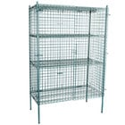 Regency NSF Stationary Green Wire Security Cage Kit - 24 inch x 48 inch x 74 inch