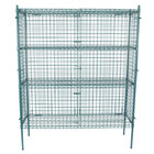 Regency NSF Stationary Green Wire Security Cage Kit - 18 inch x 60 inch x 74 inch