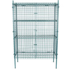 Regency NSF Stationary Green Wire Security Cage Kit - 18