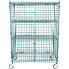 Regency NSF Mobile Green Wire Security Cage Kit - 24 inch x 48 inch x 69 inch