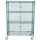 Regency NSF Mobile Green Wire Security Cage Kit - 18 inch x 48 inch x 69 inch