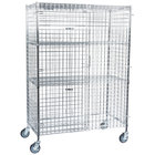 """Regency NSF Mobile Chrome Wire Security Cage Kit - 24"""" x 48"""" x 69"""""""