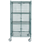Regency NSF Mobile Green Wire Security Cage Kit - 24