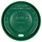 Dart Solo LGXGR2-0009 The Gourmet Lid Green Hot Cup Lid - 1500/Case