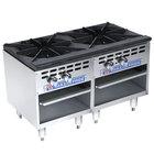 Bakers Pride Restaurant Series BPSP-18-2-D Liquid Propane Two Burner Stock Pot Range
