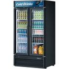 Turbo Air TGM-35SD Black 40 inch Super Deluxe Two Door Refrigerated Merchandiser - 37 Cu. Ft.
