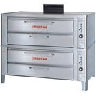 Blodgett 901 Natural Gas Compact Double Deck Oven with Draft Diverter - 44,000 BTU