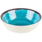 Carlisle 5400515 Mingle 17 oz. Aqua Small Melamine Bowl - 12/Case
