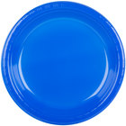 Creative Converting 28314731 10 1/4 inch Cobalt Blue Plastic Plate - 20/Pack
