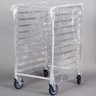 Regency 33 3/4 inch Clear 8 Mil Half-Size Plastic Bun Pan Rack Cover with 3 Zippers