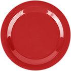 Carlisle 3300205 Sierrus 10 1/2 inch Red Narrow Rim Melamine Plate - 12/Case