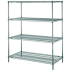 Metro N326K3 Super Erecta Metroseal 3 Wire Stationary Starter Shelving Unit - 18 inch x 30 inch x 63 inch