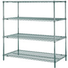 Metro N356K3 Super Erecta Metroseal 3 Wire Stationary Starter Shelving Unit - 18 inch x 48 inch x 63 inch