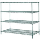 Metro N366K3 Super Erecta Metroseal 3 Wire Stationary Starter Shelving Unit - 18 inch x 60 inch x 63 inch