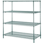 Metro N446K3 Super Erecta Metroseal 3 Wire Stationary Starter Shelving Unit - 21 inch x 42 inch x 63 inch