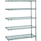 Metro 5AN437K3 Super Erecta Metroseal 3 Adjustable Wire Stationary Add-On Shelving Unit - 21 inch x 36 inch x 74 inch