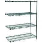 Metro AN436K3 Super Erecta Metroseal 3 Adjustable Wire Stationary Add-On Shelving Unit - 21 inch x 36 inch x 63 inch