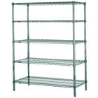 Metro 5N377K3 Super Erecta Metroseal 3 Adjustable Wire Stationary Starter Shelving Unit - 18 inch x 72 inch x 74 inch