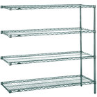 Metro AN456K3 Super Erecta Metroseal 3 Adjustable Wire Stationary Add-On Shelving Unit - 21 inch x 48 inch x 63 inch