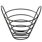 American Metalcraft BWB750 Round Black Wire Basket with Handles - 7 inch x 5 inch