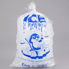 Choice 10 lb. Clear Plastic Ice Bag with Ice Print - 1000/Case