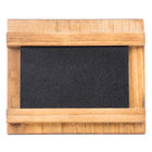 Cal-Mil 3489-23-99 3 1/2 inch x 2 inch Madera Chalkboard Stand with Black Chalkboard
