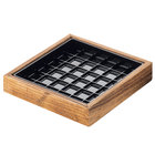 Cal-Mil 330-6-99 Madera 6 inch x 6 inch x 1 inch Rustic Pine Drip Tray