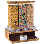 Cal-Mil 3434-99 Madera Reclaimed Wood 3 Bin Cereal Dispenser - 18 inch x 14 1/2 inch x 24 inch
