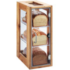 Cal-Mil 1204-99 Madera 3 Tier Rustic Pine Bread Display Case - 13 inch x 8 inch x 20 1/2 inch