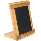 Cal-Mil 3489-46-99 4 inch x 6 inch Madera Chalkboard Stand with Black Chalkboard