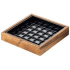 Cal-Mil 330-4-99 Madera 4 inch x 4 inch x 1 inch Reclaimed Wood Drip Tray