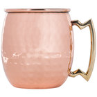 20 oz. Moscow Mule Mug with Hammered Copper Finish and Brass Handle
