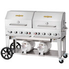 "Crown Verity CCB-60RDP 60"" Outdoor Club Grill with 2 Horizontal Propane Tanks and Roll Dome Package"