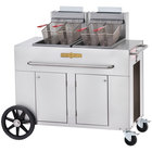 Crown Verity PF-2-NG 70-80 lb. Double Tank Portable Outdoor Fryer - Natural Gas