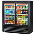 "True GDM-41SL-54-HC-LD 47"" Black Narrow Depth Refrigerated Convenience Store Merchandiser with LED Lighting"
