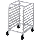 Channel 428A 9 Pan Aluminum Side Load Half Height Sheet / Bun Pan Rack - Assembled
