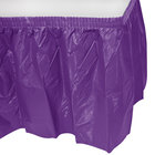 Creative Converting 318931 14' x 29 inch Amethyst Purple Plastic Table Skirt