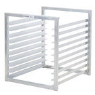 Channel RIR-10 10 Pan Aluminum End Load 20 1/2 inch x 23 inch x 23 inch Sheet / Bun Pan Rack for Reach-Ins - Assembled