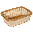GET WB-1518-TT Designer Polyweave Plastic Rectangular Basket 15 inch x 11 inch x 5 inch - 6/Pack