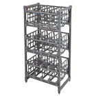 Cambro ESU243672C96580 Camshelving&#174&#x3b; Elements Full-Size Stationary Free Standing #10 Can Rack Unit