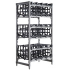 Cambro ESU243672C96580 Camshelving® Elements Full-Size Stationary Free Standing #10 Can Rack Unit