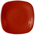 Homer Laughlin 919326 Fiesta Scarlet 10 3/4 inch Square China Plate - 12/Case