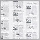 American Metalcraft PPRN1616 16 inch x 16 inch White Newspaper Print Deli Sandwich Wrap Paper - 1000/Case